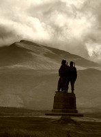 Royal Commando Memorial with Ben Nevis